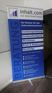 Roll-up, TEAM inhalt.com, Druckerei, Grunenberg,